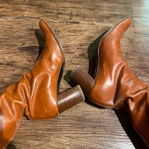 Anne Klein Vintage mid-length leather boots